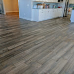 Grey rustic wood flooring