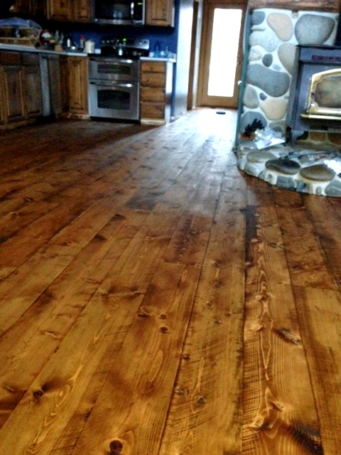 cabin grade rustic douglas fir flooring sustainable