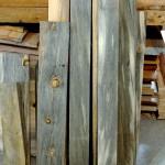 Beetle kill pine lumber dark blue stain