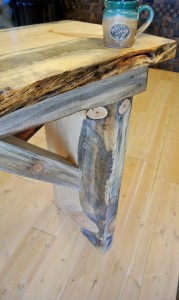 Blue stain pine table