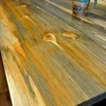 Beetle kill pine table