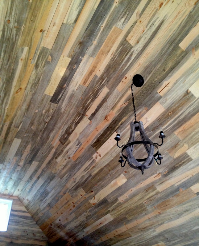 Beetle kill blue stain pine ceiling decking