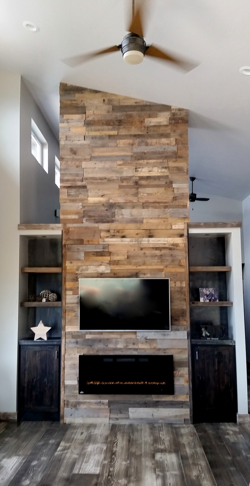Adding a reclaimed wood wall sustainable lumber company for Colorado reclaimed wood