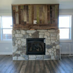 barnwood fire place