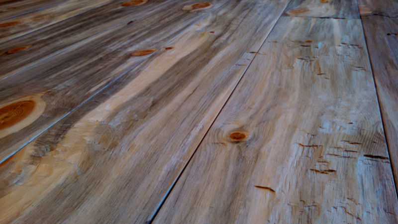 Hand scraped beetle kill pine flooring Sustainable Lumber Company