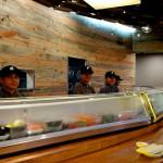Blue pine wall Eight Sushi Atlanta