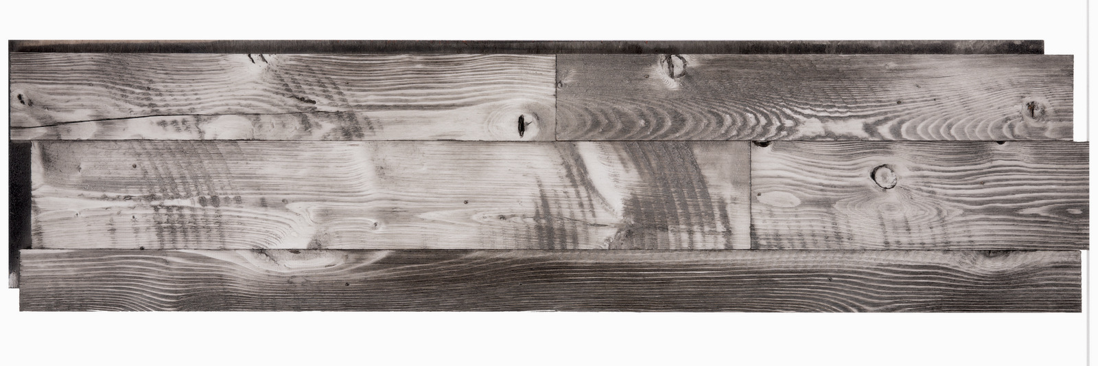 Grey wash wood wall panel