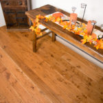 rustic handscraped wood floors