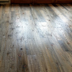 hand scraped beetle kill pine flooring