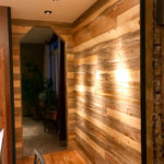 Beetle kill pine wall paneling