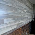 Blue pine paneling
