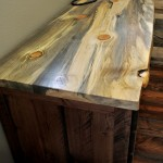 Beetle kill blue stain pine desk