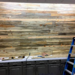 blue pine wood wall
