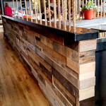 Pallet accent wall