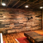 recycled pallet accent wall