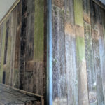 barnwood fireplace