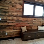 Shipping pallet wall paneling