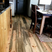 Beetle Killed blue stain pine flooring