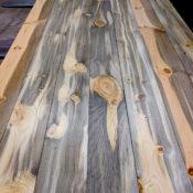Blue stain pine flooring