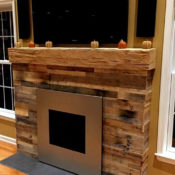 Pallet Wood fireplace surround