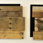 reclaimed pallet wood panel joint