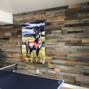 reclaimed wood wall cost