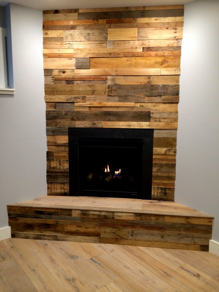 Wood Wall Cladding: Reclaimed Pallet Wood Paneling